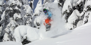 February - enjoying the powder in British Columbia